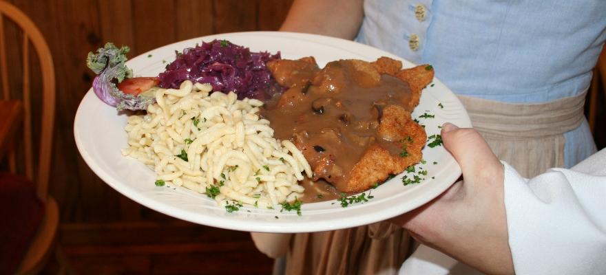Dinner Platter at Cafe Old Vienna Myrtle Beach